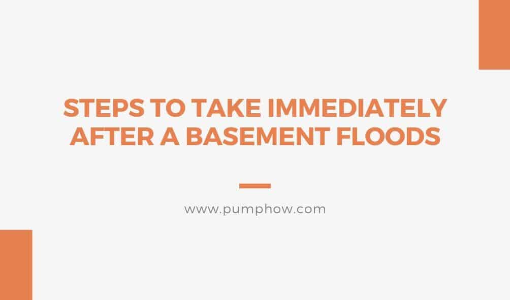 Basement Flooding What To Do