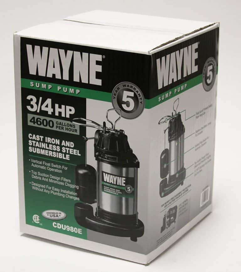 WAYNE CDU980E Review: ¾ HP Submersible Cast Iron and Stainless Steel Sump Pump With Integrated Vertical Float Switch