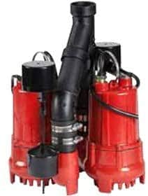 Red Lion 14942771 Dual Automatic Cast Iron Sump Pump System