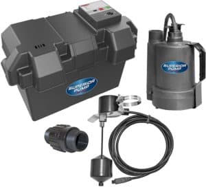 Superior Pump 92910 12V Battery Back Up Submersible Sump Pump with Vertical Switch